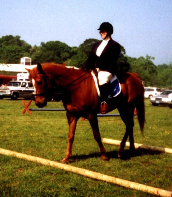 Karen on horseback